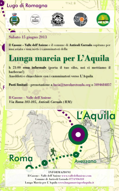 Lunga marcia per l'Aquila