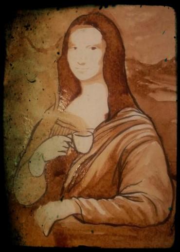 Mokalisa disegno con caffè - Federico Fieni per D-gusto