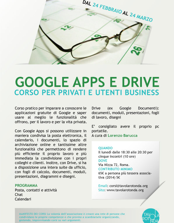 Corso google apps e drive