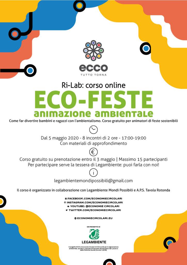 Ecofeste 2020 - Corso gratuito per animatori ambientali