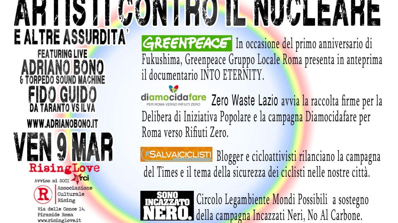 Artisti contro il nucleare