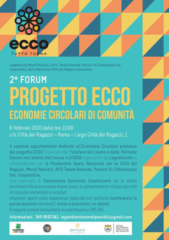Secondo forum di comunità progetto ECCO